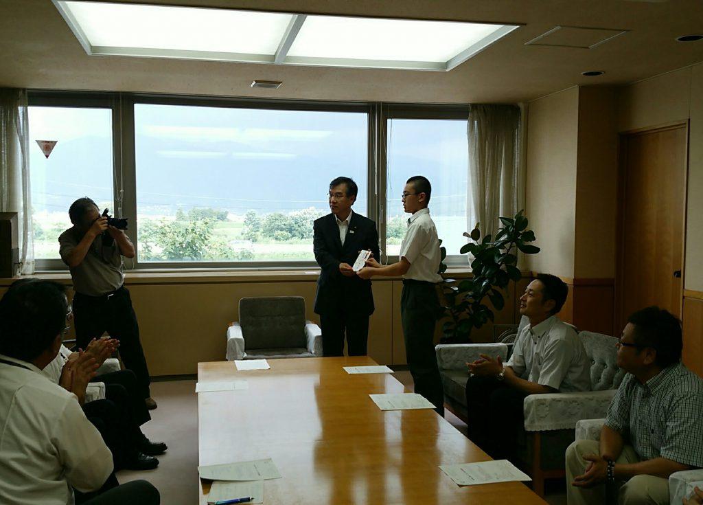 飯山市長表敬訪問