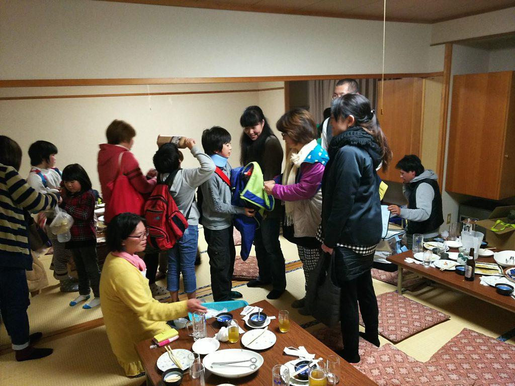 お開き 戸狩剣道クラブ慰労会