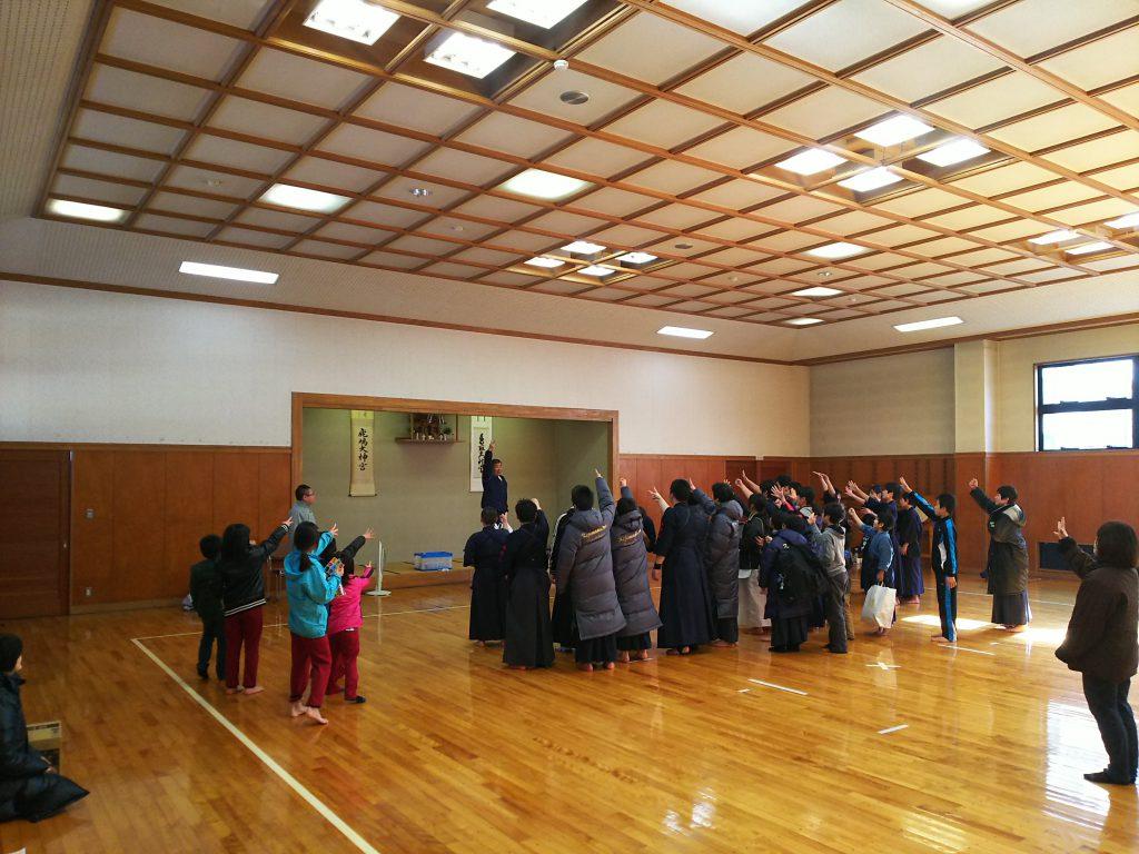 飯山剣道連盟のジャンケン大会