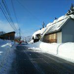 立道集会所 屋根の雪下ろし