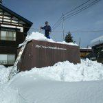 貨車の雪下ろし