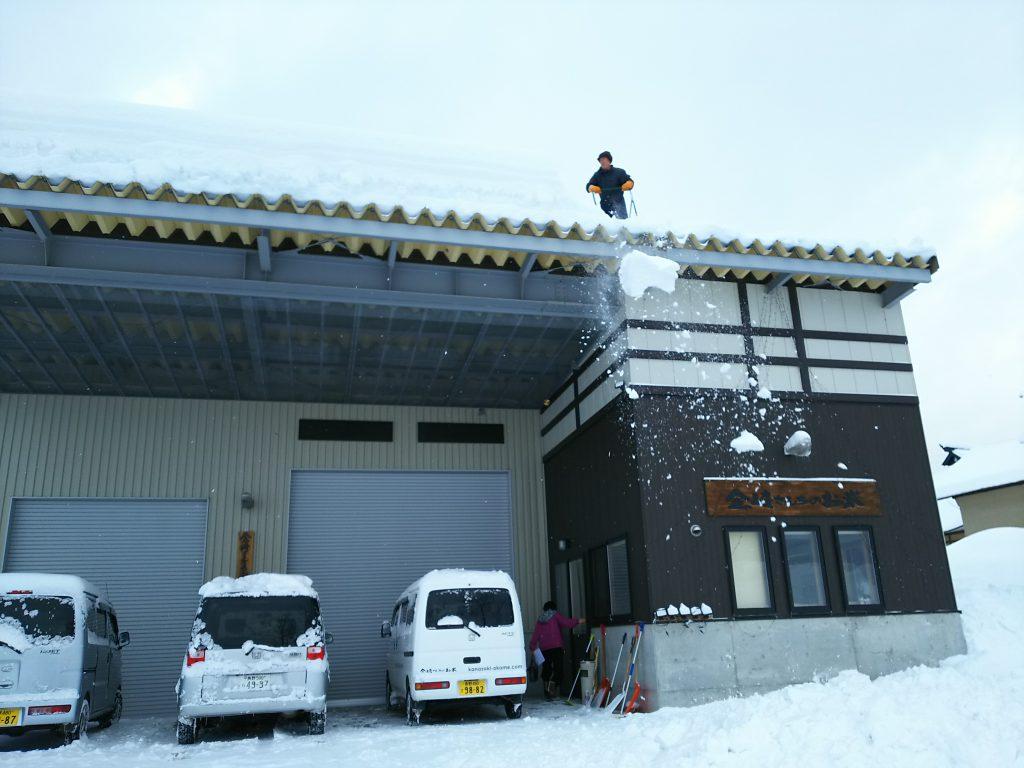 精米所の雪下ろし