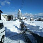外の雪景色