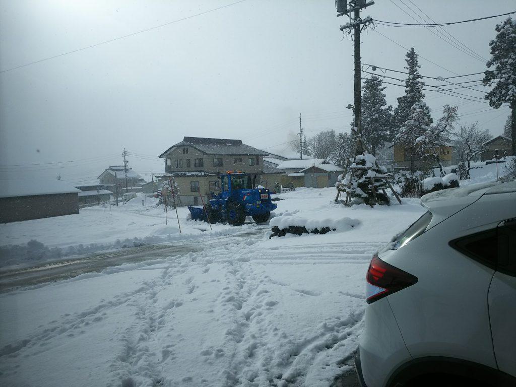 初雪 道路除雪