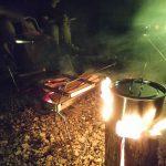 ログファイヤー たき火