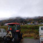 裏山の初雪