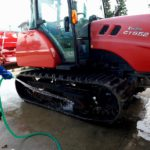 クローラトラクター洗車