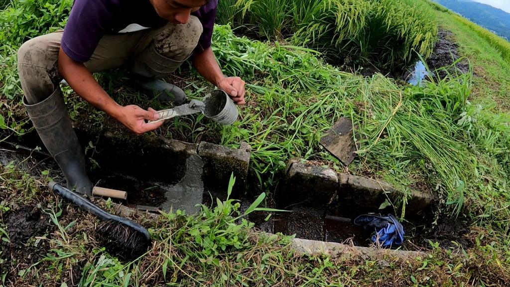 農業用水路の補修
